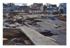 East Lyme Road Destruction