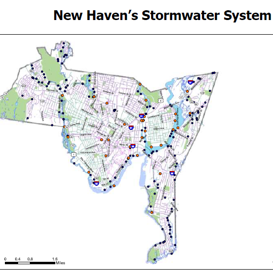 New Haven Stormwater System Map