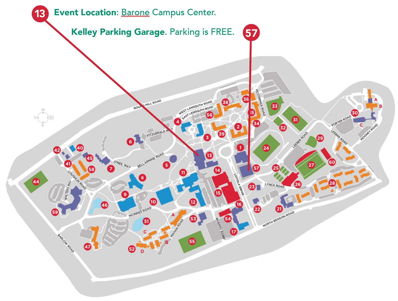 Fairfield U Campus Map