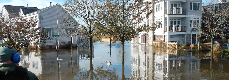 flooded neighborhood